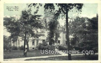 Bartlett Hall, Ripon College - Wisconsin WI Postcard