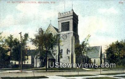 St Matthews Church - Kenosha, Wisconsin WI Postcard