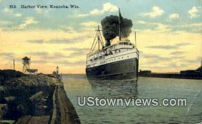 Harbor View - Kenosha, Wisconsin WI Postcard