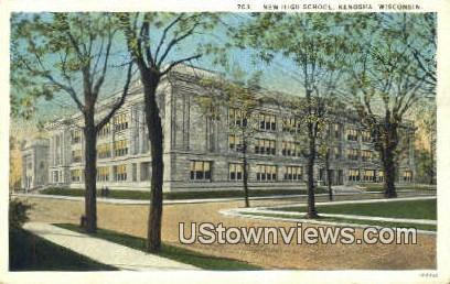 New High School - Kenosha, Wisconsin WI Postcard