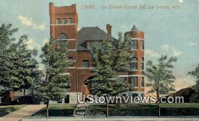 La Crosse County Jail - Wisconsin WI Postcard