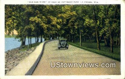 Old Man River, Pettibone Park - La Crosse, Wisconsin WI Postcard