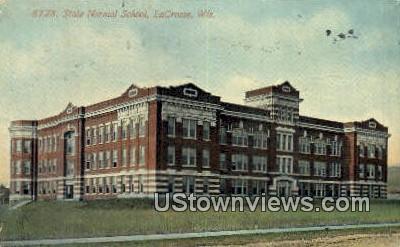 State Normal School - La Crosse, Wisconsin WI Postcard