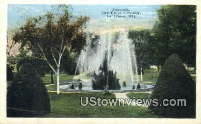Fountain, Oak Grove Cemetery - La Crosse, Wisconsin WI Postcard