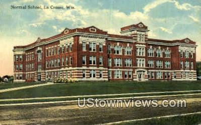 Normal School - La Crosse, Wisconsin WI Postcard