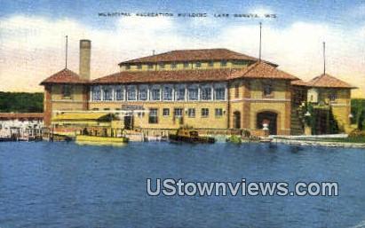 Municipal Recreation Building - Lake Geneva, Wisconsin WI Postcard