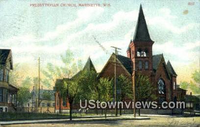 Presbyterian Church - Marinette, Wisconsin WI Postcard