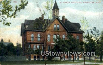 St Mary's Institute - Marinette, Wisconsin WI Postcard