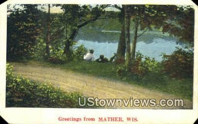 Mather, Wis,     ;     Mather, WI - Wisconsin WI Postcard