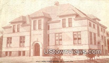 Holy Cross Parish School - Mount Calvary, Wisconsin WI Postcard