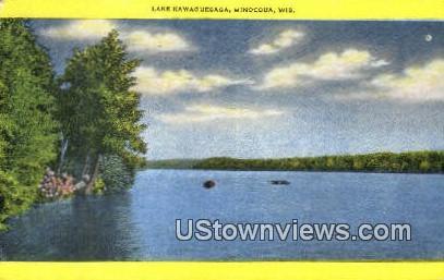 Lake Kawaguesaga - Minocqua, Wisconsin WI Postcard