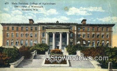 Main Building, University of Wisconsin - Madison Postcard