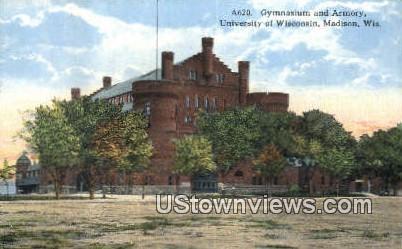Gym & Armory, University of Wisconsin - Madison Postcard