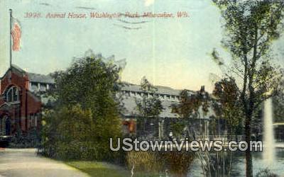 Animal House, Washington Park - MIlwaukee, Wisconsin WI Postcard