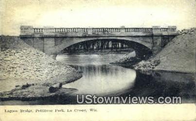Lagoon Bridge, Pettibone Park - La Crosse, Wisconsin WI Postcard