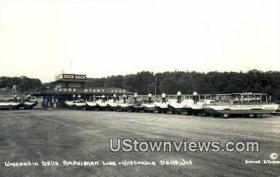 Real Photo - Wisconsin Dells Amphibian Line - Wisconsin Dells Postcards Postcard
