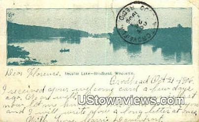 Decatur Lake - Brodhead, Wisconsin WI Postcard