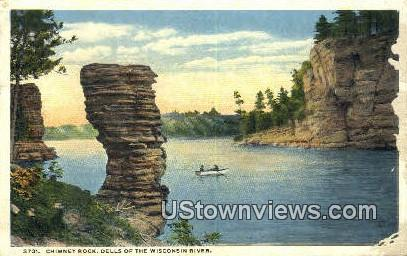 Chimney Rock - Wisconsin River Postcards, Wisconsin WI Postcard
