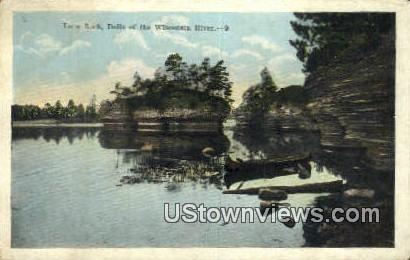 Lone Rock - Wisconsin River Postcards, Wisconsin WI Postcard