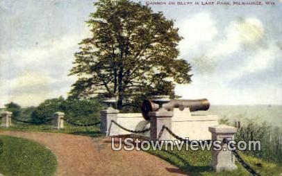 Cannon, Lake Park - MIlwaukee, Wisconsin WI Postcard