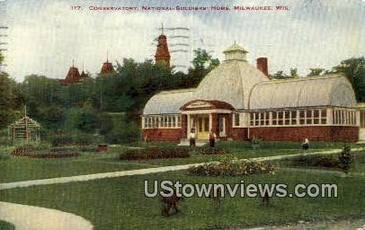 Conservatory, National Soldiers House - MIlwaukee, Wisconsin WI Postcard