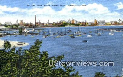 South Shore Park - MIlwaukee, Wisconsin WI Postcard