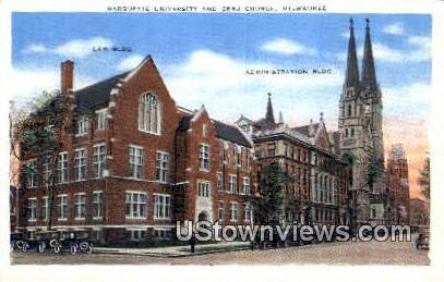 Marquette University - MIlwaukee, Wisconsin WI Postcard