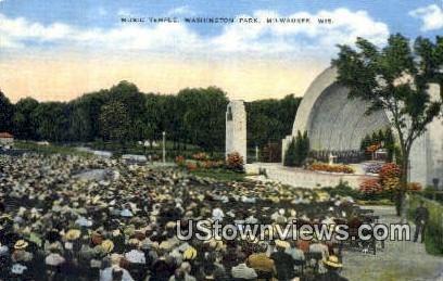 Music Temple, Washington Park - MIlwaukee, Wisconsin WI Postcard