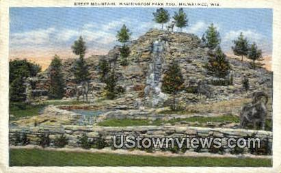 Sheep Mountain, Washington Park Zoo - MIlwaukee, Wisconsin WI Postcard
