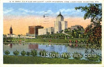 Cudahy Tower Apartments - MIlwaukee, Wisconsin WI Postcard