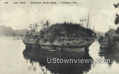 Lone Rock, Wisconsin River Dells - Kilbourn Postcard