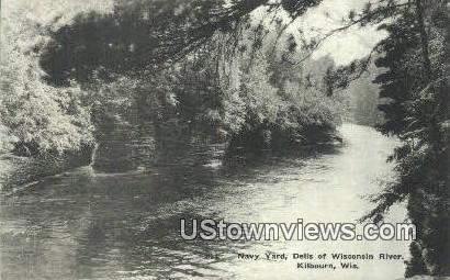 Navy Yard, Wisconsin River - Kilbourn Postcard