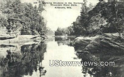 Narrows, Wisconsin River Dells - Kilbourn Postcard