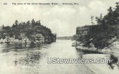 Jaws of the Dells - Kilbourn, Wisconsin WI Postcard