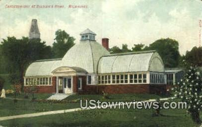Conservatory, Soldiers Home - MIlwaukee, Wisconsin WI Postcard