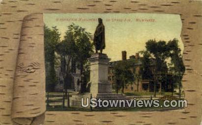 Washington Monument - MIlwaukee, Wisconsin WI Postcard
