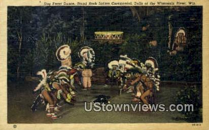Stand Rock Indial Ceremonial - Dells Of The Wisconsin Postcards, Wisconsin WI Postcard