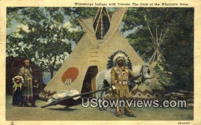 Winnebago Indians - Dells Of The Wisconsin Postcards, Wisconsin WI Postcard