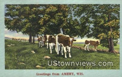 Amery, WI,     ;     Amery, Wisconsin Postcard
