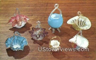Victorian American Glass Baskets - Neenah, Wisconsin WI Postcard