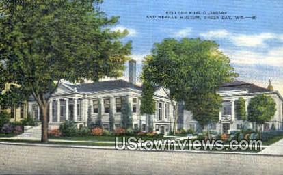 Kellogg Public Library, Neville Museum - Green Bay, Wisconsin WI Postcard