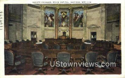 Senate Chamber, State Capitol - Madison, Wisconsin WI Postcard
