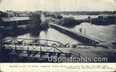 Eastern Portion on Bridge - Necedah, Wisconsin WI Postcard