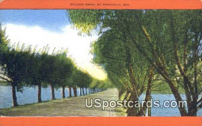 Willow Drive - Minocqua, Wisconsin WI Postcard