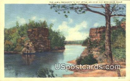 The Jaws - Upper Dells of the Wisconsin River Postcards, Wisconsin WI Postcard
