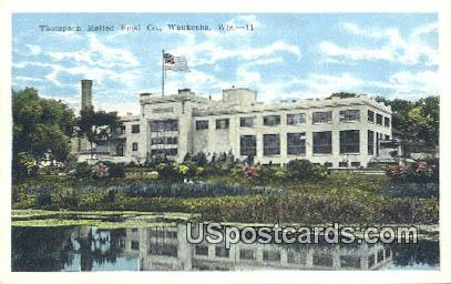 Thompson Malted Food Co - Waukesha, Wisconsin WI Postcard