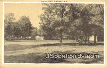 Tourist Camp - Waupaca, Wisconsin WI Postcard