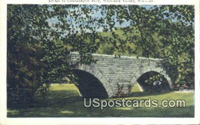 Bridge to Consolidated Park - Wisconsin Rapids Postcards, Wisconsin WI Postcard