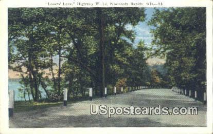 Lovers' lane - Wisconsin Rapids Postcards, Wisconsin WI Postcard