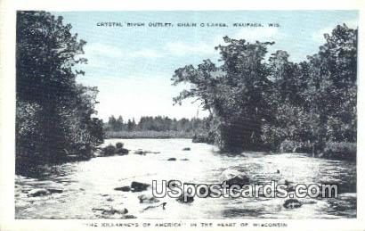 Crystal River Outlet - Waupaca, Wisconsin WI Postcard